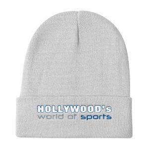 Hollywood (White) Knit Beanie