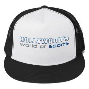 Hollywood (White/Black) Trucker Cap