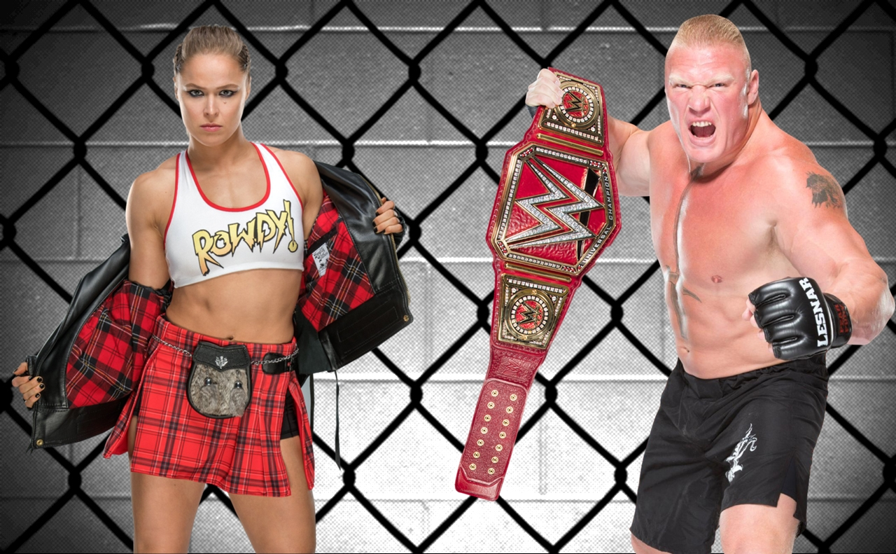 Ronda Rousey And Brock Lesnar: A Tale Of Two Worlds
