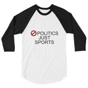 No Politics (White / Black) Unisex T-Shirt