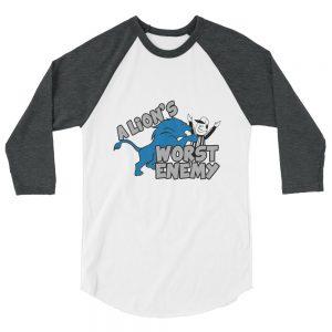 Lion's Worst Enemy (White / Grey) Unisex T-Shirt